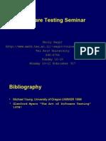 Testing Seminar