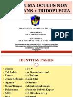 TRAUMA OCULUS NON PERFORANS + IRIDOPLEGIA PTT