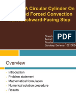 Effect Of A Circular Cylinder On Separated Forced Convection  At A Backward-Facing Step