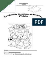 Cuadernillo Vacaciones de Invierno Spanish