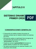 Capitulo II Dinamica de Primer Orden