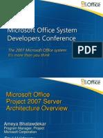 Session E3 Microsoft Office Project Server 2007 Architecture