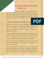 informe pedgogico del proceso de pormacin