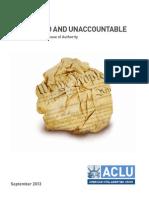 ACLU - Unleashed and unaccountable - FBI report