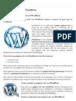 Crear página web con Wordpress