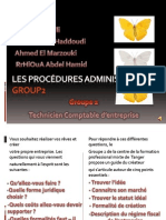 Les PROCéDUREs ADMINISTRATIVES Group2