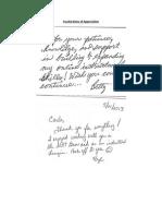 faculty notes of appreciation