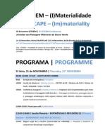 Programa Programme