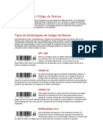 Simbología en Código de Barras