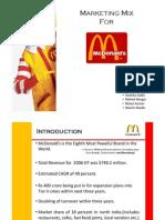 Mcdonalds' Marketing Mix