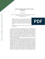 Cardinal-Recognizing Infinite Time Turing Machines
