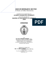 CHANGES IN INSURANCE SECTOR ( A Study on Public Awareness)