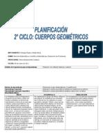 Planificación 2° ciclo Cuerpos Geometricos