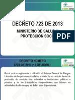 Decreto 0723 Del Ministerio Del Trabajo