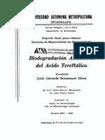 Degradacion Anaerobica de ACIdo Tereftalico