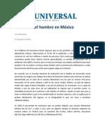 Las Cifras Del Hambre en Mexico.reforma