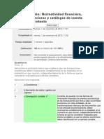 Autoevaluación 1 Normatividad financiera, estados financieros y catálogos de cuenta