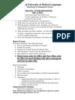 Internship Report Guidelines