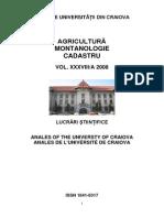 Anale Agronomie Vol XXXVIII a 2008