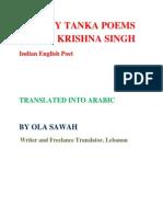 TWENTY TANKA POEMS OF R.K. SINGH TRANSLATED IN TO ARABIC  by OLA SAWAH