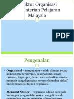struktur organisasi Kementerian Pelajaran Malaysia