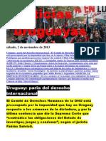 Noticias Uruguayas sábado 2 de noviembre del 2013