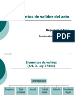 01. Clase 07-A, Elementos de Validez Del Acto Administrativo