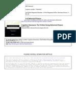 Cognitive Dissonance The Problem Facing Behavioral Finance.pdf