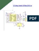 USB-to-RS232 Using Atmel ATtiny2313 or ATmega8