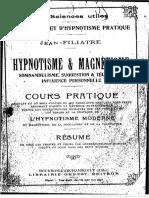 Filiatre - hypnotisme et magnétisme
