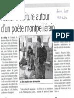 Patricio SANCHEZ-ROJAS, (Talca, Chile, 1959), Journal MIDI-LIBRE, Quissac, France, 2008