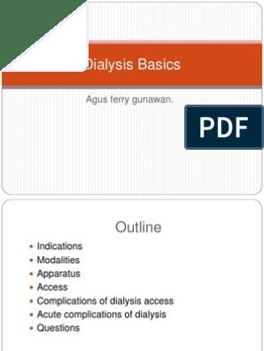 Dialysis Basics ppt | Hemodialysis | Dialysis