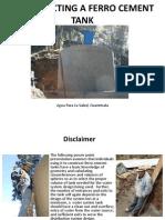 ferrocement tank