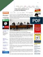 SiteBarra » Promotor fala sobre polêmicas e é aplaudido de pé em Mantena