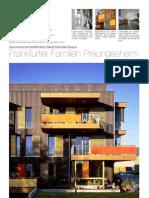 """Genossenschaftliches Wohnhaus """"Frankfurter Familien Preungesheim"""", Faltblatt"""