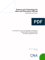DoD Science and Technology for Communication and Persuasion Abroad Analysis