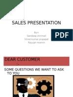 Sales Presentation, Vinod