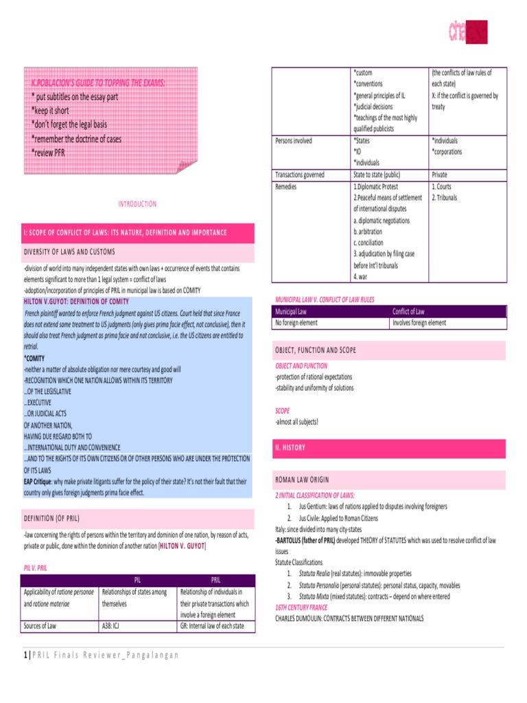 28589573 pril reviewer pdf lawsuit minimum contacts
