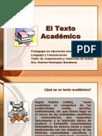 El Texto Académico (presentación para Taller)