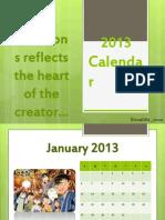 personalized 2013 calendar.pptx