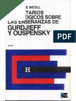 Nicoll, Maurice. Comentarios Psicolgicos Sobre Las Enseanzas de Gurdjieff y Ouspensky. Volumen I