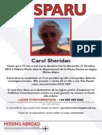 Carol Sheridan - Disparu