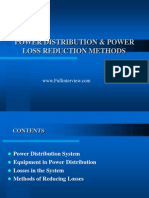 Power Distribution Power Loss Reduction Methods