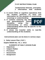 ELEMENTS OF INSTRUCTIONAL PLAN.doc