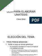 Guía para elaborar tesis