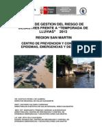 Plan Lluvias Diresa San Martin 2013