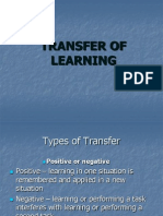 TRANSFER OF  LEARNING.ppt