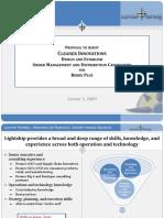 Proposal to Establish Order Management and Distribution