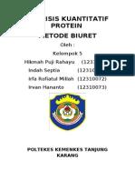 ANALISIS KUANTITATIF PROTEIN MAKALAH.doc
