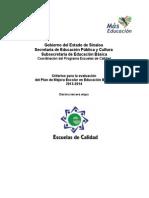 Criterios para la evaluación del PME 2013 2014 PEC XIII (1)